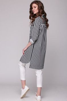 41 Striped Blouses You Will Definitely Want To Keep - Fashion New Trends Pakistani Fashion Casual, Pakistani Dresses Casual, Muslim Fashion, Stylish Dresses For Girls, Stylish Dress Designs, Look Legging, Chic Outfits, Fashion Outfits, Fashion Ideas