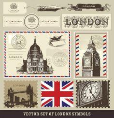 Free Digi Download ~ Vector Set of London Symbols