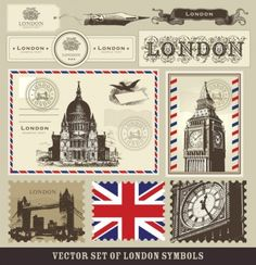 Free Digi Download ~ Vector Set of London Symbols