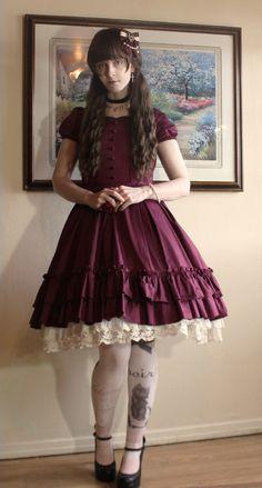 /cgl/ - Toned down/Casual/Everyday Lolita Coordinates thread - Cosplay & EGL Pretty Dresses, Beautiful Dresses, Petticoated Boys, Mode Lolita, Brolita, Feminized Boys, Tokyo Street Style, Transgender Girls, Androgynous Fashion