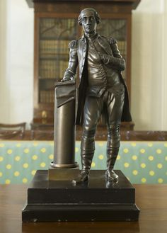 French Bronze Statue of George Washington, Anonymous, end of the eithteenth century / early nineteenth century, bronze - Roper House Gallery – Classical American Homes Preservation Trust