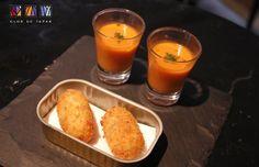 O Clos de Tapas traz para a Tapas Week esses croquetes de jamón ibérico e gaspacho (Foto: Divulgação)