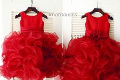 Hey, I found this really awesome Etsy listing at https://www.etsy.com/listing/216107610/red-organza-ruffle-ball-gown-flower-girl