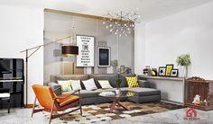 Modern Living Room, Ho Chi Minh City, Vietnam Designed by Gil Design. Gildesign.vn
