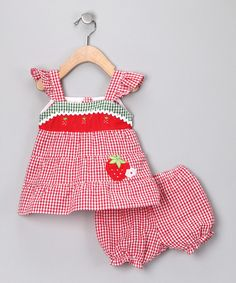 Sweet strawberry outfit for spring