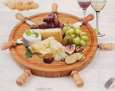 Round Bamboo Cheese Board Set, Charcuterie Platter and Serving Meat BoardLaser engraved with your text38.4 x 36.3 x 7.9cm / 2.08 KgMax. engraving size: 7.5 x 7.5 cmPersonal message can also be added underneath #laserengraved,#thanksgivinggifts Scrabble Frame, Wooden Scrabble Tiles, Scrabble Art, Personalized Cheese Board, Laser Engraved Gifts, Cheese Board Set, Family Tree Frame, Charcuterie Platter, Maker Shop