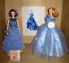 Winter Blue III–belles of the ball  Posted by helen on December 10, 2016.searched all my Barbie Closets, picked out all the blue dresses I could find, I'm sure I have a few more, but could not find them. I'll need 6 more blue dresses to complete my holiday showcase.