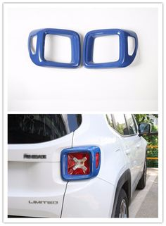 FMtoppeak 2 Pcs Blue ABS Tail Rear Light Lamp Guard Cover Trim Frame for Jeep Renegade 2014-2016 -- Awesome products selected by Anna Churchill