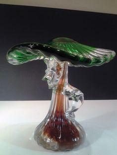 Russian Crystal Hand Blown Glass Mushroom Man by ValleyVintageLA, $55.00