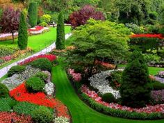Butchart Gardens- beautiful during the day, and spectacular at night