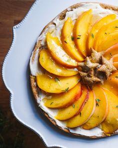 Simple Mascarpone Peach Tart | A Couple Cooks
