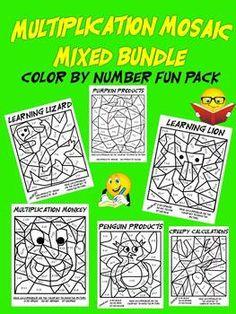 Math fact fun! Multiplication Mosaics!