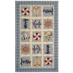 Size x Safavieh Hand-hooked Chelsea Kiersten Country Oriental Wool Rug (Ivory x