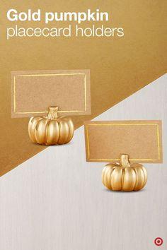 Pumpkin Placecard Holders
