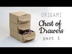 Learn how to make a cute & useful origami chest of drawers, you can make as many as you like & they will slot together. These actually make a great gift boxes if you have more than one thing to give!