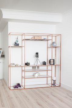 COPPER STEEL BOOKCASE - studio design perspective
