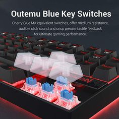 Custom mechanical switches (Cherry Blue equivalent) for ultimate gaming performance Red LED adjustable lighting and double-shot injection molded keycaps for crystal clear backlighting Metal and ABS Construction, mechanical keys, and gold Plated USB connector stand up to hardcore gaming Custom mechanical switches designed for longevity, responsiveness, and durability. Mechanical keys with medium resistance, audible click sound, and tactile feedback 87 standard conflict free keys, 12… Best Pc, Double Shot, Red Led, Keyboard, Cherry, Usb, Wire, Games, Compact