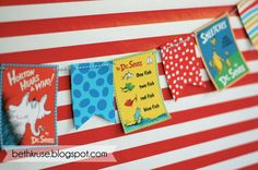 Banner at a Dr. Seuss Party #drseuss #partybanner