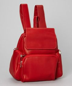 Loving this Red Multi-Pocket Backpack on #zulily! #zulilyfinds. Le Donne