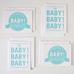 Baby Boy Cards Set Of 4 now featured on Fab.