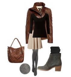 Pair booties with a knee-length skirt, warm tights and scrunched socks for a cozy-chic look.