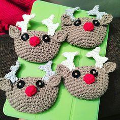 Rudolph the Reindeer Chocolate Orange Cosy - free crochet pattern by Sarah-Jane Hicks.