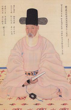 Portrait, Korea, Joseon dynasty, ??? Korean Photo, Korean Art, Asian Art, Korean Painting, Chinese Painting, Korean Traditional, Traditional Art, Traditional Clothes, Living In Korea