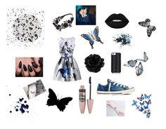 """""""Butterfly Kisses"""" by corpseskeleton ❤ liked on Polyvore featuring interior, interiors, interior design, home, home decor, interior decorating, Tisch New York, NOVICA, Visionnaire and Lime Crime"""