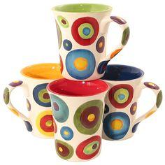Circle Mugs by Mary Naylor