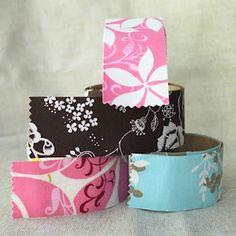 DIY fabric tape - way cool!