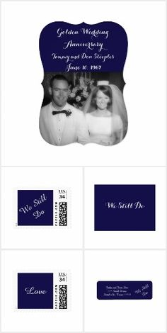 Wedding Anniversary Navy by Amy Steeples.  Available on Zazzle.