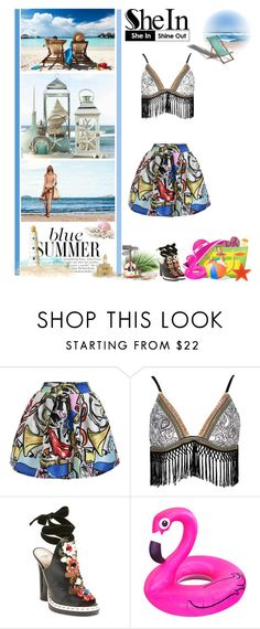 """A blue Summer"" by fashionqueen76 ❤ liked on Polyvore featuring River Island, Fendi, Sheinside and shein"