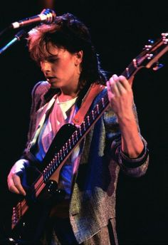"John Taylor during the ""Sing Blue Silver' World tour 1984."