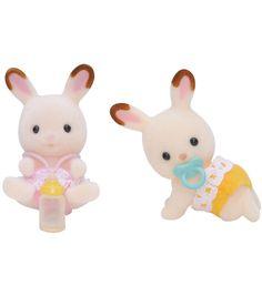 Figure Calico Critters Milk Rabbit Family Set Epoch Japan SB