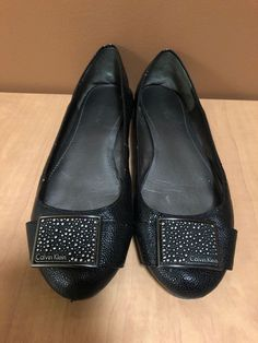 e5ef0ceff5f Calvin Klein Raysana Womens Size 6.5 Black Leather Loafers Ballet Flats  Pretty  fashion  clothing