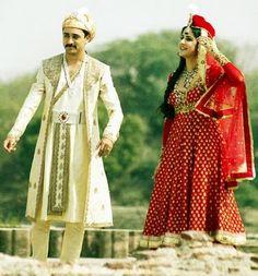 Katrina Kaif's anarkali inspired look in the movie, Mere brother ki dulhan. Indian Wedding Outfits, Indian Outfits, Wedding Dresses, Indian Weddings, Imran Khan, Katrina Kaif, Historical Costume, Wedding Blog, Wedding Art