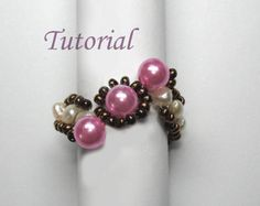 Beading Tutorial  Beaded Flower Of Hearts Ring
