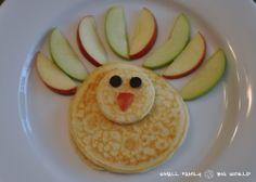 Small Family Big World: Thanksgiving Turkey Pancake