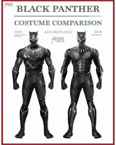 "2,289 Likes, 73 Comments - • Accurate.MCU • mcu fanpage (@accurate.mcu) on Instagram: ""• BLACK PANTHER - COSTUME COMPARISON • A lot of people suggested to compare Black Panther's civil…"""