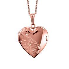 10kt Rose Gold Heart Locket