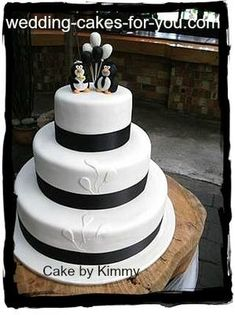 Penguin Wedding Cake: Hi Lorelie,  I guess this penguin wedding cake was a lesson in trusting a brides dream and the wonderful ideas my niece had to include her guests in every