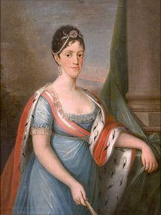 Carlota Joaquina of Spain (1775-1830), queen consort of Portugal, Brazil and Algarves, wife of king John VI of Portugal   Domingos Sequeira (1802/06)