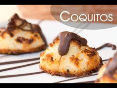 Galletas de Coco Coquitos con Chocolate Facilísimos - YouTube