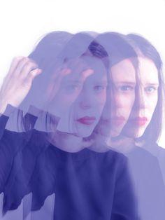Foto Portrait illustration Julia Feller blau blue photography