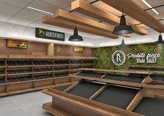 Real Supermarket - Supermercado Real - Niterói/RJ on Behance Supermarket Design, Retail Store Design, Fruit And Veg Shop, Vegetable Shop, Retail Shelving, Store Layout, Shop Interiors, Cafe Design, Commercial Design