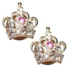 Curliesin de vorm van een kroonen bezet metstrass steentjes. Dekroon heeft eendoorsnede van 2cm. Je draaitde curlies makkelijkinopgestoken haar. Mooiom in het haar te dragen tijdens een sjieke party of met een bruiloft.