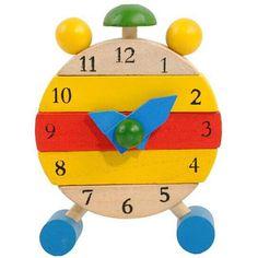 Handmade Wooden Educational Toy Clock