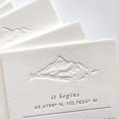 few things have looked better in blind deboss 😍 sneak peek of a recent suite for a winter wedding in Jackson Hole 🏂 Stationery Design, Invitation Design, Wedding Stationery, Mountain Wedding Invitations, Wedding Logos, Wedding Paper, Wedding Cards, Branding, Winter Mountain Wedding