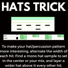 Hats Trick for Mixing Dream Music, Dj Music, Music Mix, Music Guitar, Music Albums, Dance Music, Music Stuff, Music Recording Studio, Music Studio Room