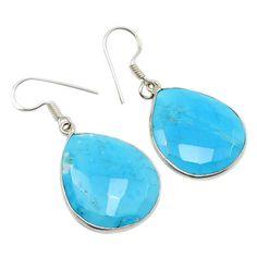 Silvestoo India Turquoise Gemstone 925 Sterling Silver Earring PG-100773   https://www.amazon.co.uk/dp/B06XX44BXQ